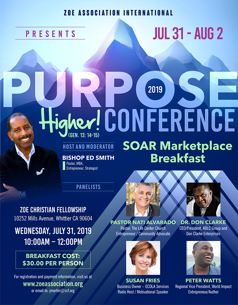 Zoe SOAR Marketplace Breakfast Flyer